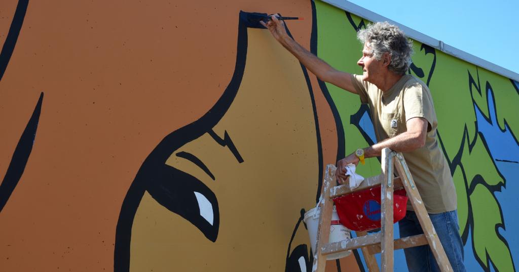 La fresque de Cosey à Pully: une réalisation vraiment régionale